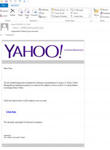 Yahoo malware